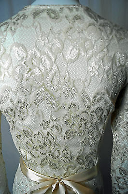 9a3c43185f ... Baylis Knight Low Cut Cream Nude Lace FISHTAIL Long Sleeve Maxi Dress  Gown Dita 4