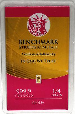 1//60th gram gold pure 24k 3mm X 6mm fractional gold 999 FINE bullion bar D9c
