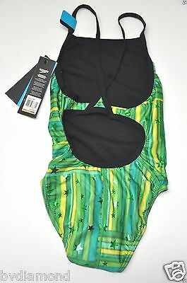 NWT $70.00 SPEEDO Performance//Racing Green Swimsuit Youth 22 size 6