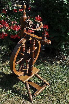 antikes  seltenes Spinnrad Eiche schwere Ausführung 6