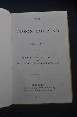 The Lesson Compend for 1875 - Jesse Lyman Hurlbut - Methodist 3