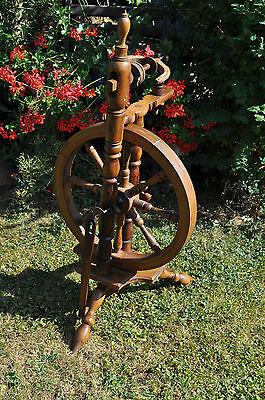 antikes  seltenes Spinnrad Eiche schwere Ausführung 4