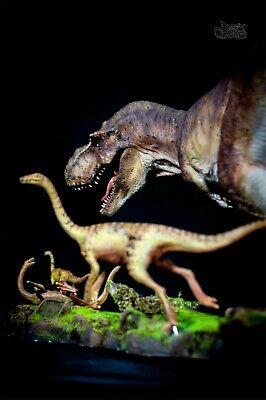 Tyrannosaurus Rex Prey Gallimimus Statue Dinosaur Model Animal Toy Collector GK 10