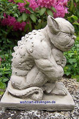 KT159 sitzender Gargoyle Pickeld Steinfigur Gnom