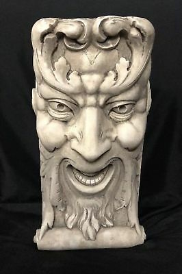 Laughing Face Wall Corbel Bracket Shelf Architectural Accent Home Decor 5