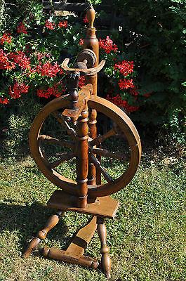 antikes  seltenes Spinnrad Eiche schwere Ausführung 2