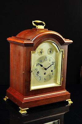 Antique German Junghans 8 Day Bracket Clock with Westminster Chime approx. 1910 5