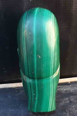 easter island head incarved malachite  stone