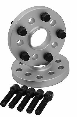 4 PC AUDI VOLKSWAGEN STAGGERED 15 MM /& 20 MM WHEEL SPACERS W// BLACK 14x1.5 BOLTS