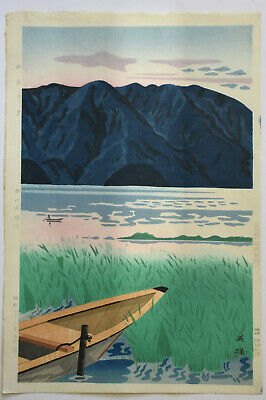 Originale Japanese Woodblock Print By Nishijyama Hideo 2