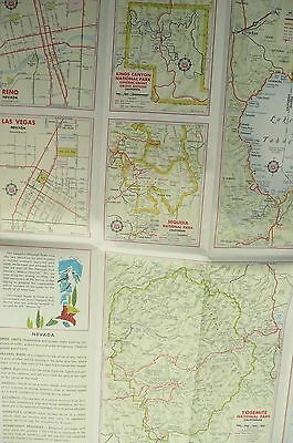 1961 NEVADA road map Phillips 66 gas oil Las Vegas Lake ...