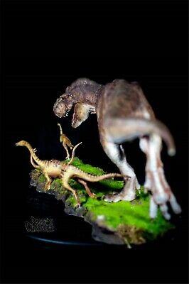 Tyrannosaurus Rex Prey Gallimimus Statue Dinosaur Model Animal Toy Collector GK 6