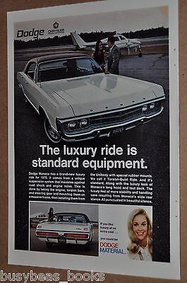 1970 DODGE MONACO advertisement, Dodge Monaco ad, with small airplane