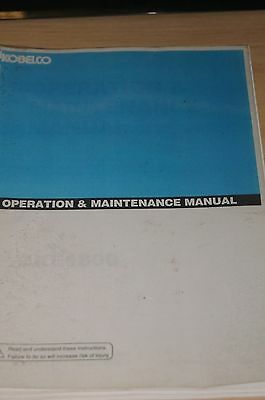 Kobelco Operation & Maintenance Manual CKE1800 5