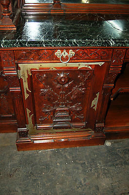 Gothic Revival Walnut and Burl Grand Scale Sideboard/Back Bar c. 1890 #7416 8