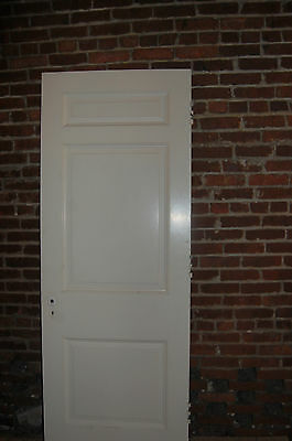 Vintage 3 Panel Solid Wood Door Several Sizes Available Architectural Salvage 2