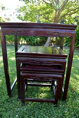 Carved Asian Nesting Tables 2