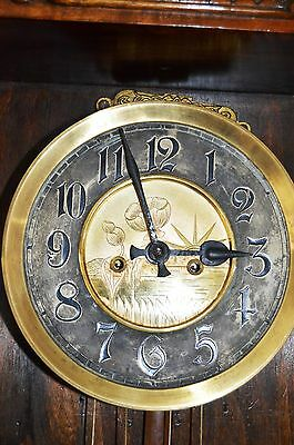 Antique Original Gustav Becker Wall Clock Huge 143 Cm Vienna Regulator 7