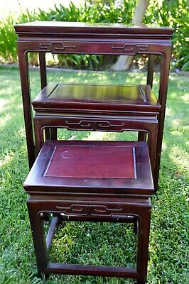 Carved Asian Nesting Tables 3