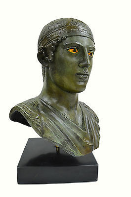 Charioteer of Delphi sculpture marblebased real size Great bronze statue bust