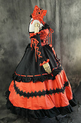 H-095 Date a Live Kurumi Tokisaki Cosplay Costume Dress Gothic Lolita