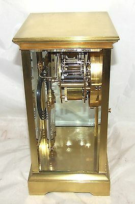 Antique French Four Glass Brass Striking Bracket Mantel Clock CLEANED & SERVICED 5