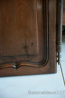 Set 2 French Antique Carved Louis XV Style Architectural Panel Door Solid Walnut 8