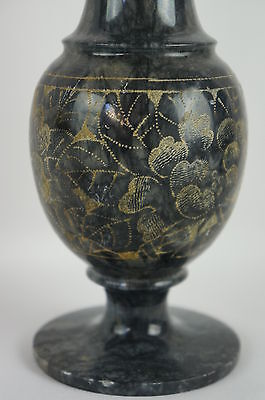 Nice Black Stone Carved Vase - Dead Sea, Heavy #1 of 3 2