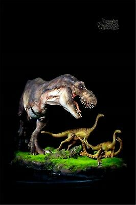 Tyrannosaurus Rex Prey Gallimimus Statue Dinosaur Model Animal Toy Collector GK 7