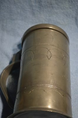 Krug Zinn antik um 1750 Bierkrug, Bierseidel Bierhumpen 25 cm AM & Bergbau 6