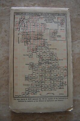 Vintage 1946 'Torquay Ordnance Survey One Inch Map/Poster on Cloth 3