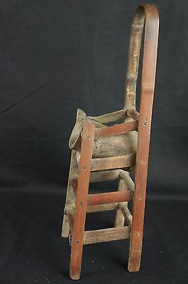 """Great antique Chinese carved wood chair-shaped brush holder 12"""" 2"""