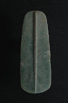 Pre Columbian Jade Axe God, Stone Pendant, Talisman, Mayan, Costa Rican 2