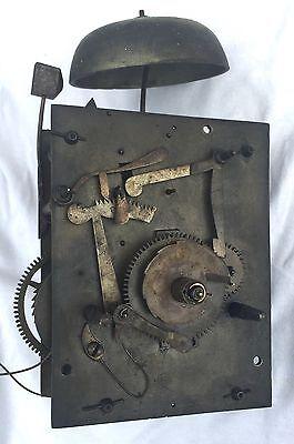 Oak & Mahogany 8 Day Inlaid And Cross Banded Long Case Grandfather Clock 12
