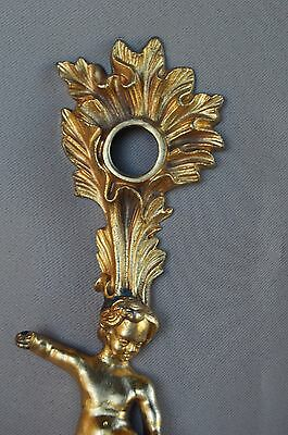 French Decor Bronze Putto Pouring Water Door Back Plates, Knob 18th.c 4