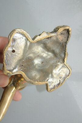 """Ganesha Elephant DOOR PULL HANDLE 11 """" long solid BRASS trunk door age 28 cm B 9"""