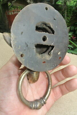 "small heavy ELEPHANT trunk Door Knocker SOLID BRASS 3.3/4 "" old style house B 10"