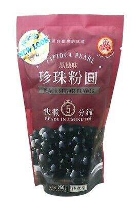 UK Seller! Wufuyuan Tapioca Pearl 250g Black and Colour for Bubble tea drink 2