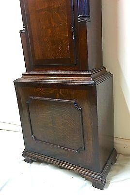 ~ Antique Brass 8 Day Oak & Mahogany Longcase Grandfather Clock WALKER NANTWICH 10