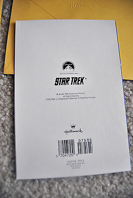 Lot of 2 Rare 1992 Hallmark Star Trek Spock Greeting cards New Paramount Picture