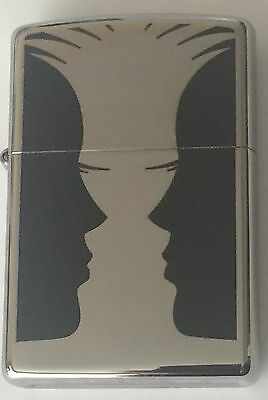 Zippo Windproof Double Image Lighter, Vase and Face, 46814, New In Box
