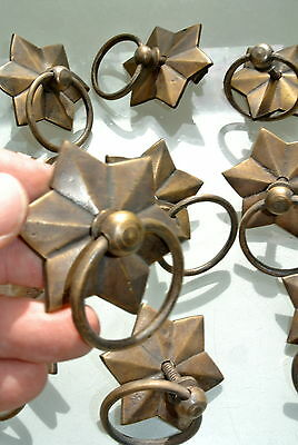 10 STAR RINGS small knob pulls handles door old antique style drops knobs 60mm B 5