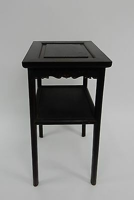 Gorgeous Antique Chinese Zitan Two tier  Wood Side Table RARE!!  28 inches 5