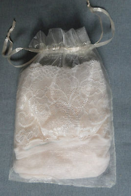 ivory white or natural Wedding Bridal 15 denier lace top hold up stockings