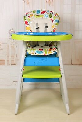 FoxHunter Baby Highchair Infant High Feeding Seat 3in1 Toddler Table Chair New 7