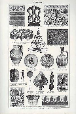 Lithografie 1934: Volkskunst I/II. 2