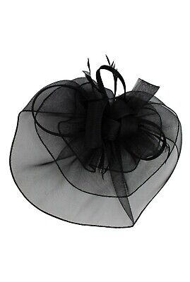 LARGE Feather Flower Hair Hat Fascinator Headband Party Wedding Royal Ascot Race 2