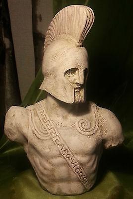Greek Sculpture King Leonidas of Sparta Statue Art Ornament Decor Figurine 38 cm 2