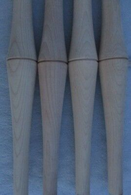 """4 NEW UNFINISHED MAPLE BULBOUS TURNED LEGS SPINDLES 18"""" high 2"""