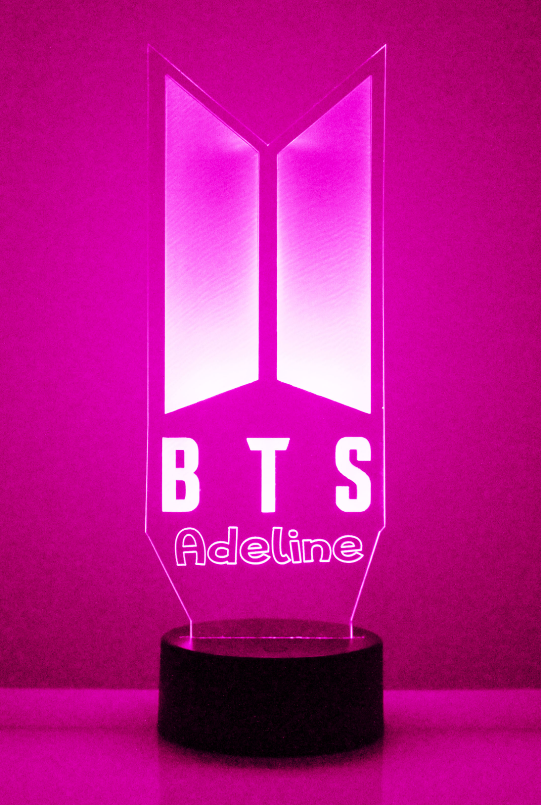 KPOP BTS Personalized Light Up Night Light Lamp With Remote Bangtan Boys V Gift 6